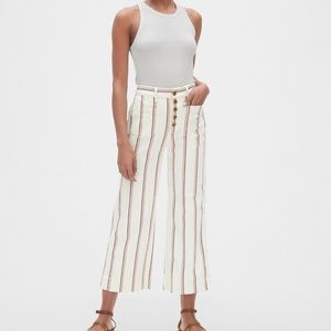 GAP HIGH RISE MARINER STRIPE WIDE-LEG CHINOS